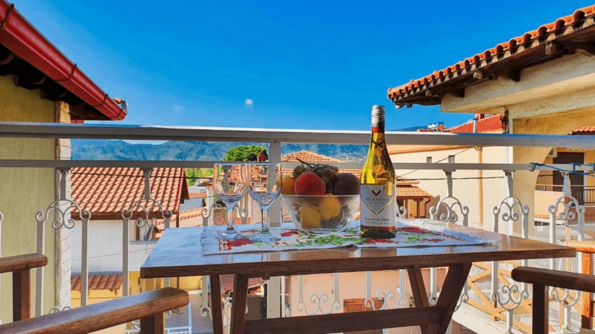 villa-maria-sarti-hotel-table-balcony-apartments-studios-chalkidiki